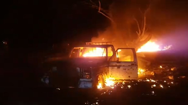 Algunas personas se habrían acercado en una camioneta a tratar de sustraer combustible (Foto: Especial)