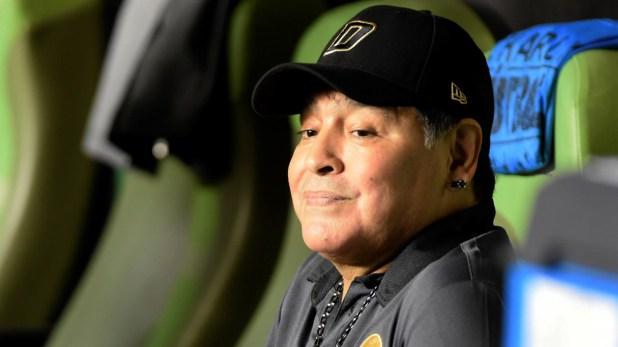 Duras declaraciones de Maradona contra el presidente de la AFA y la FIFA. (EFE)
