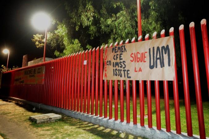 Este movimiento se da a dos semanas de que se iniciaron las clases en la UAM (FOTO: LUIS CARBAYO /CUARTOSCURO.COM)