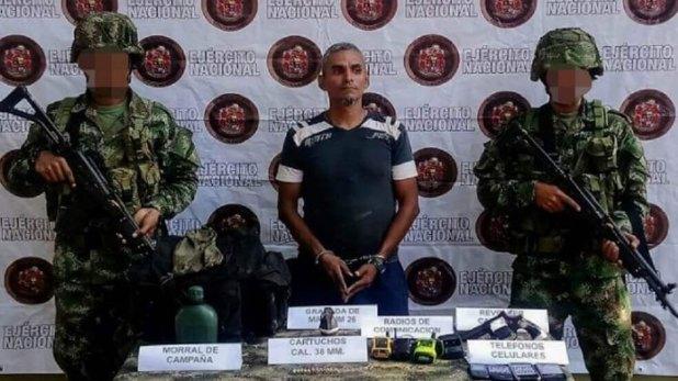 Jesús Alfredo Meneses, alias el 'Mudo', cabecilla de Los Caparrapos capturado recientemente.