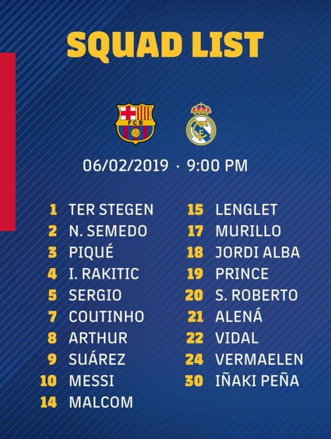 Los concentrados para jugar ante el Real Madrid