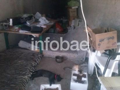 Exclusivo: la casa del femicida por dentro. Gil Pereg vivía en la mugre, domría un colchón en el piso junto a sus 37 gatos (Justin Vallejo)