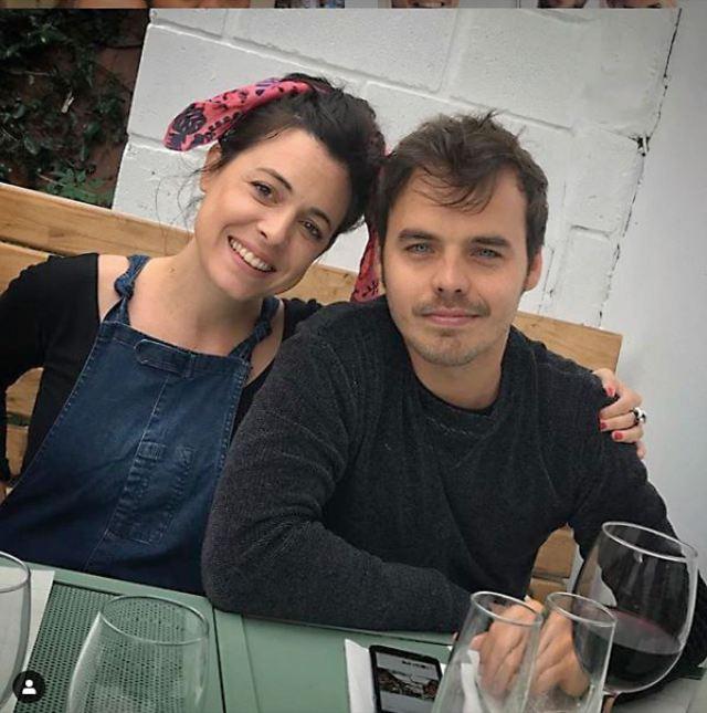 Con su mujer, MartinaSánchez Acosta