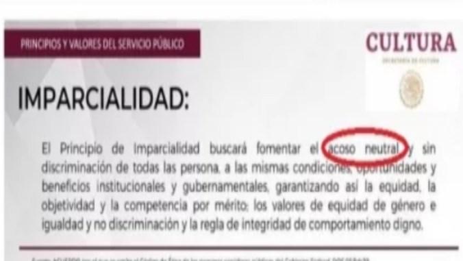 La nota pertenecía a uno de los artículos del Código de Ética (Foto: Captura de Pantalla)