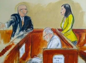 """""""El Chapo"""" miró varias veces a Emma(Elizabeth Williams via AP)"""
