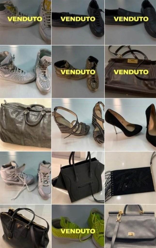 Los objetos que puso a la venta Wanda en una página web