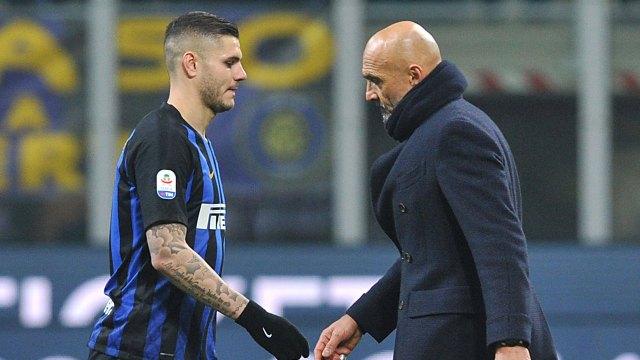 Icardi y Spalletti, cara a cara (Foto: Reuters)