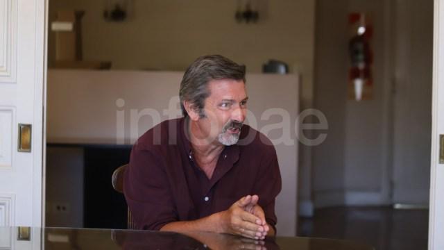 Rístori en el estudio de su abogado (Matias Baglietto)