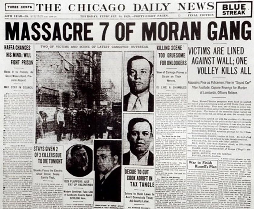 El ataque mafioso llegó a la primera plana de los diarios de la época
