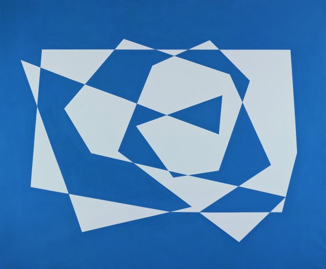 Fabián Burgos. Espiral azul, 2010, óleo sobre tela, 190 x 240 cm