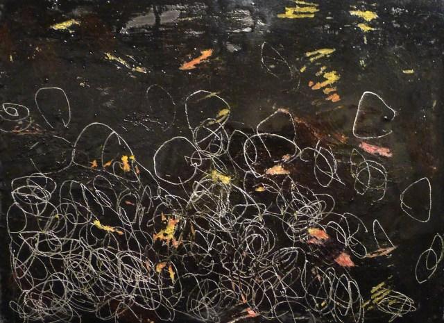 Diana Aisemberg, Serie Barco amarrado 1, 2002, pintura sobre madera entelada 25 x 30 cm
