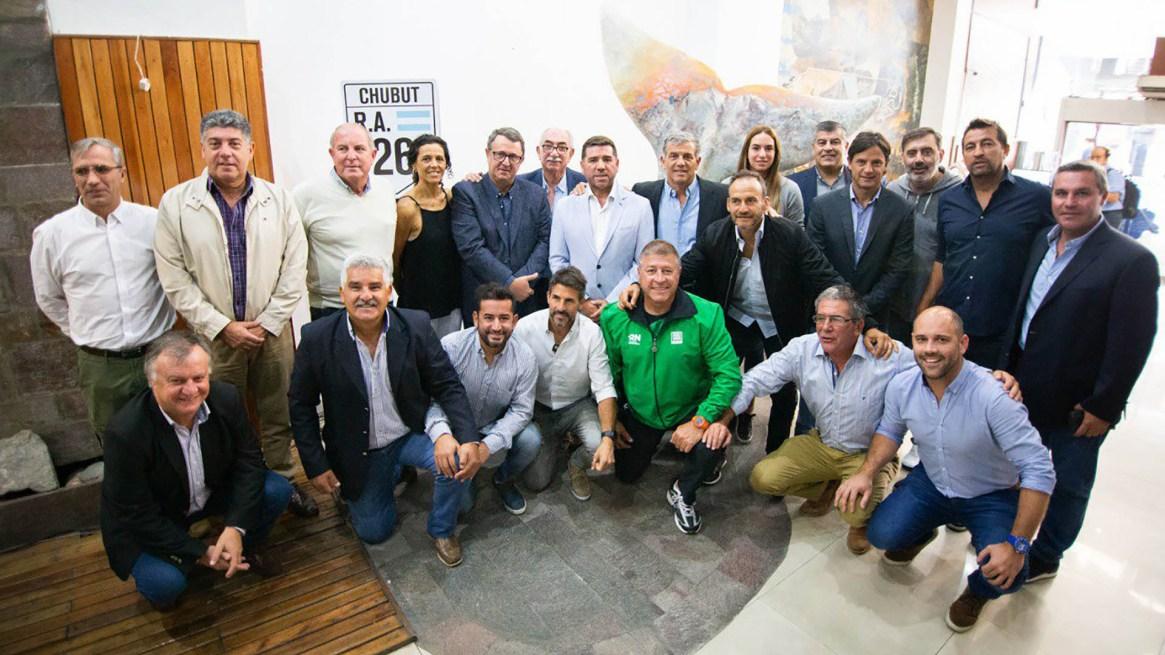 La presentación se realizó en la Casa del Chubut, en Capital Federal (Foto: @DeportesAR)