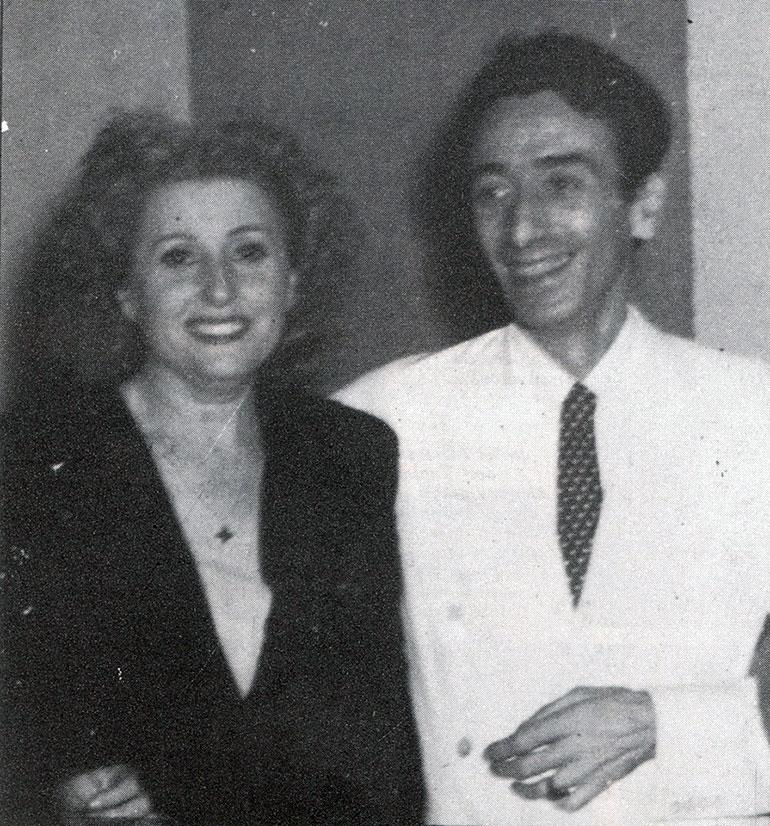 Ana Luciano Divis, más conocida como Tania y Enrique Santos Discépolo