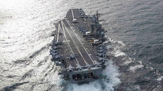 El portaaviones USS Abraham Lincoln (CVN 72) ya está en la costa de Omán