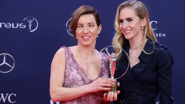 La esquiadora alpina Henrieta Farkašová fue premiada en los Laureus (AFP)