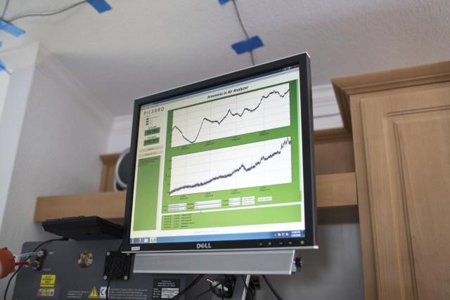 Los científicos midieron los niveles decontaminación del hogar.(Callie Richmond/HOMEChem)