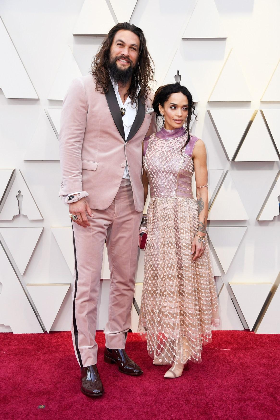 Jason Momoa y Lisa Bonet en la edición 91 de la premios de la Academia de Hollywood