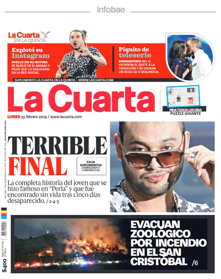 La Cuarta, Chile, Lunes 25 de Febrero de 2019 – Formosa Primero