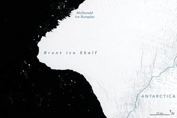 Imagen del Mapeador Temático (TM) en Landsat, el 30 de enero de 1986.