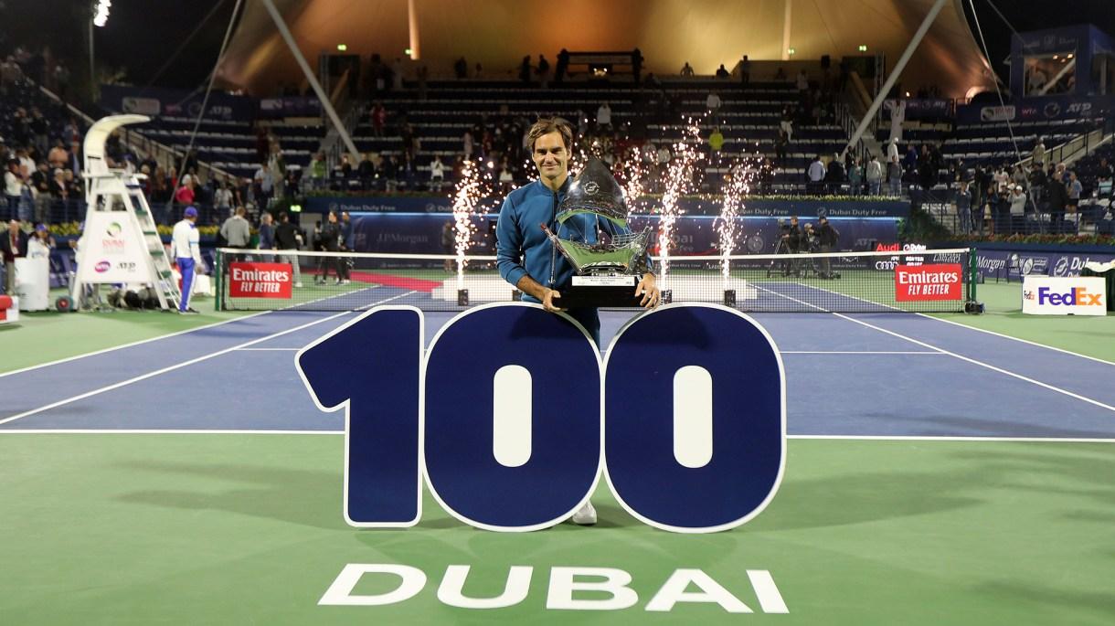 Roger ganó el título 100 de su carrera en el ATP de Dubai (Foto: Reuters)