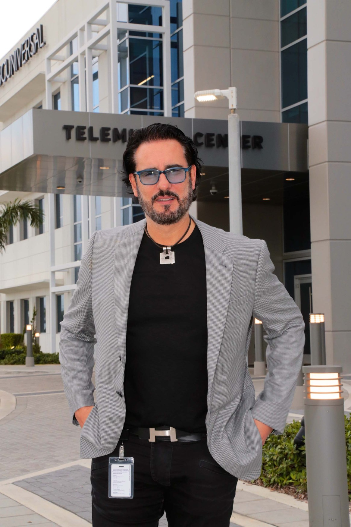 Miguel Varoni en los estudios de Telemundo Center, Miami (Foto: Luis Fernandez)