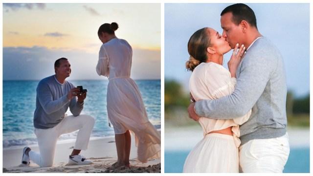 Las fotos que JLo y Alex Rodríguez compartieron de su compromiso en Bahamas