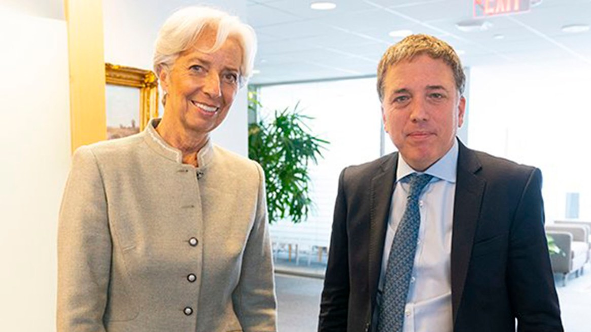 Lagarde y Dujovne, en Washington (@FMInoticias)