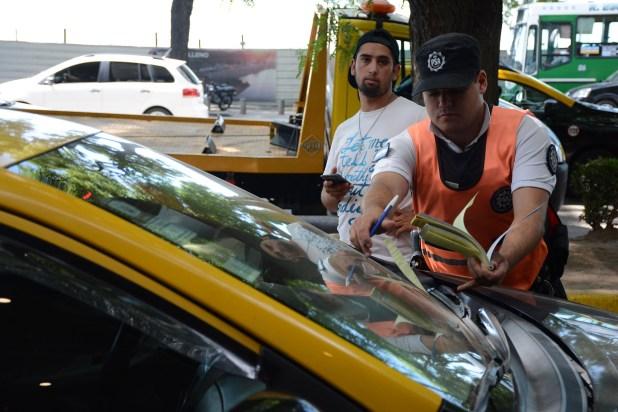 Muchos taxistas fueron multados