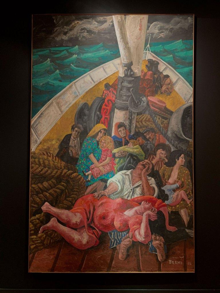 """""""Los emigrantes"""", de Berni. En Sur"""