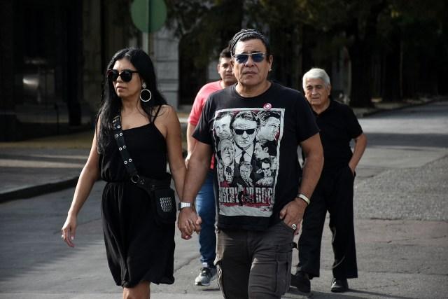 Juan Palomino y su mujer fueron a despedir a Fabián Matus
