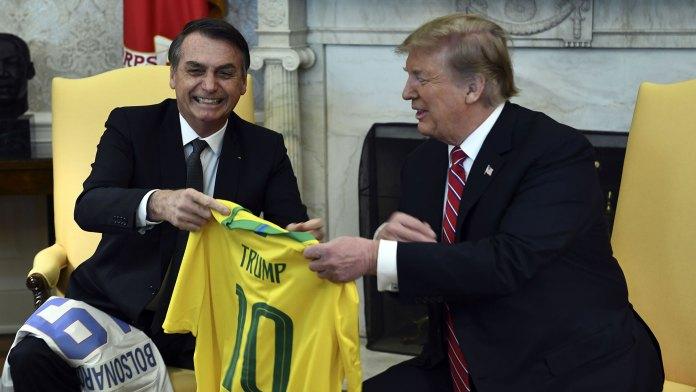 Donald Trump recibió a Jair Bolsonaro en la Casa Blanca el 19 de marzo (AFP)