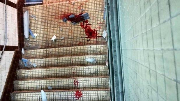 La escalera en la que cayó Carranza. Murió en el acto
