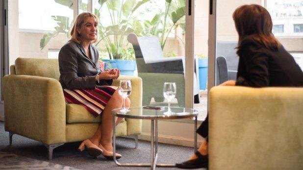 Infobae entrevistó a la candidata en la sede de Cambiemos de la calle Balcarce. (Manuel Cortina)