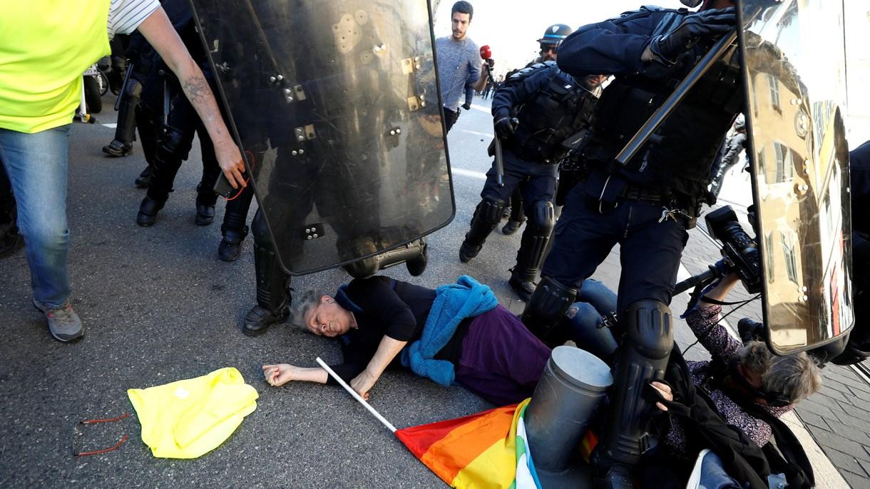 Hubo incidentes en Niza (REUTERS/Eric Gaillard)