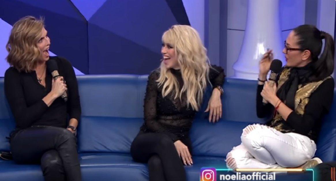 Noelia habló de su cinta erótico en su visita al programa de Yolanda Andrade y Montserrat Oliver (i)