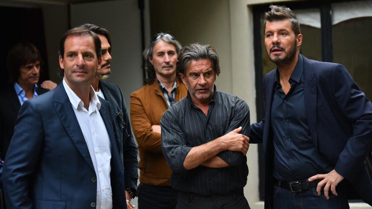 El conductor también se encontró con el actor Osvaldo Laport, padrino y director artístico del Teatro Seminari Cine Italia