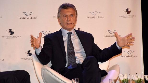Mauricio Macri, anoche, en la cena de Fundación Libertad (Foto: Nicolás Stulberg)