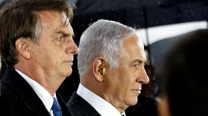Jair Bolsonaro junto al primer ministro israelí Benjamin Netanyahu (Reuters)