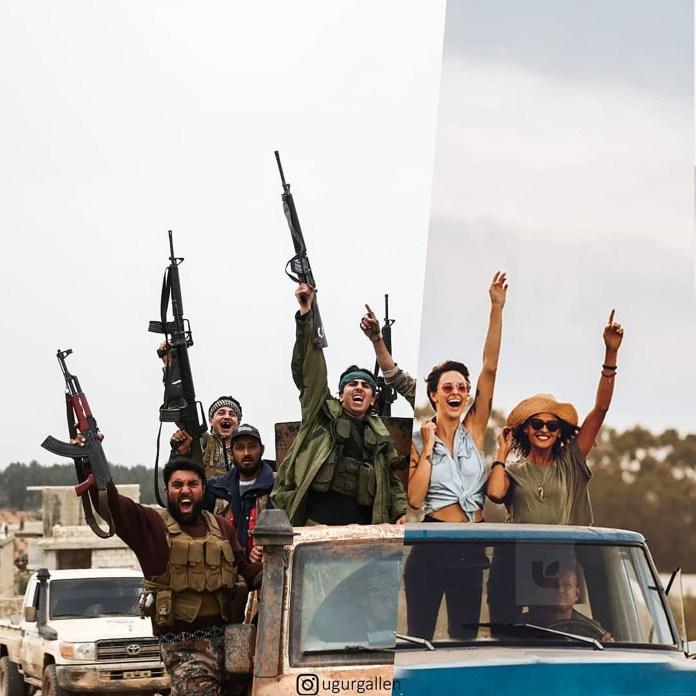 Fuerzas rebeldes sirias y un grupo de mujeres de vacaciones en Estados Unidos