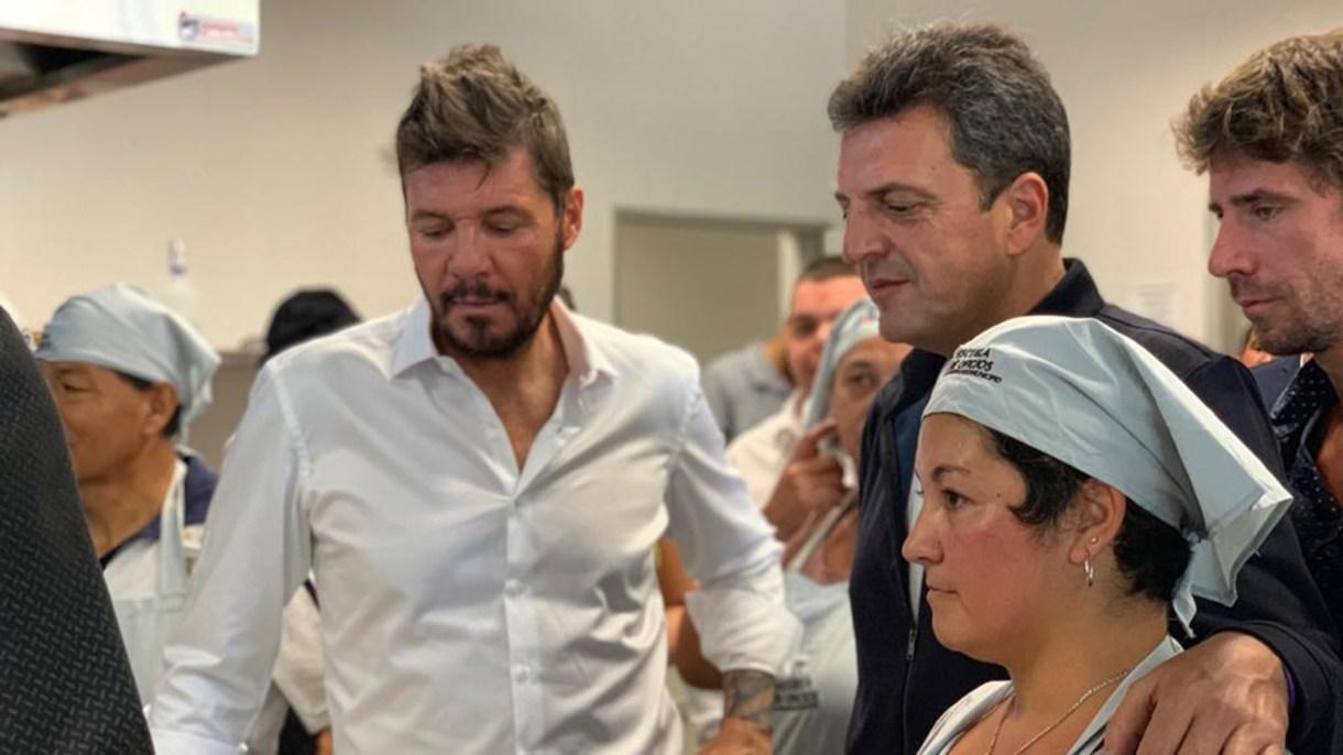 Marcelo Tinelli junto a Sergio Massa en San Fernando