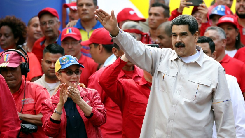 Nicolás Maduro en un acto político en Caracas el 6 de abril de 2019 (REUTERS/Manaure Quintero)