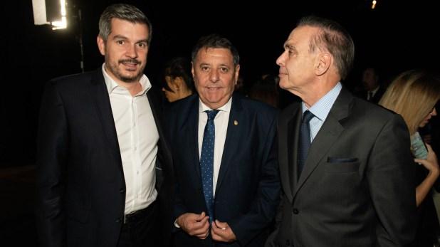 Marcos Peña, Alfredo De Angeli y Miguel Angel Pichetto