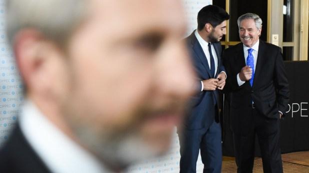 Rogelio Frigerio, Facundo Moyano y Felipe Solá
