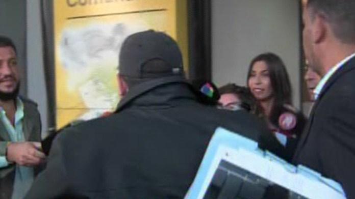 El taxista Claudio Daniel Rímolo entro a la fiscalía del barrio de Núñez para brindar su declaración ante el fiscal Brotto
