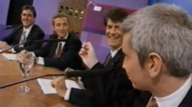 """De la Puente, Andy Kusnetzoff, Mario Pergolini y Juan Di Natale, juntos en """"CQC"""": cuando todo era buena onda. ¿O no tanto?"""