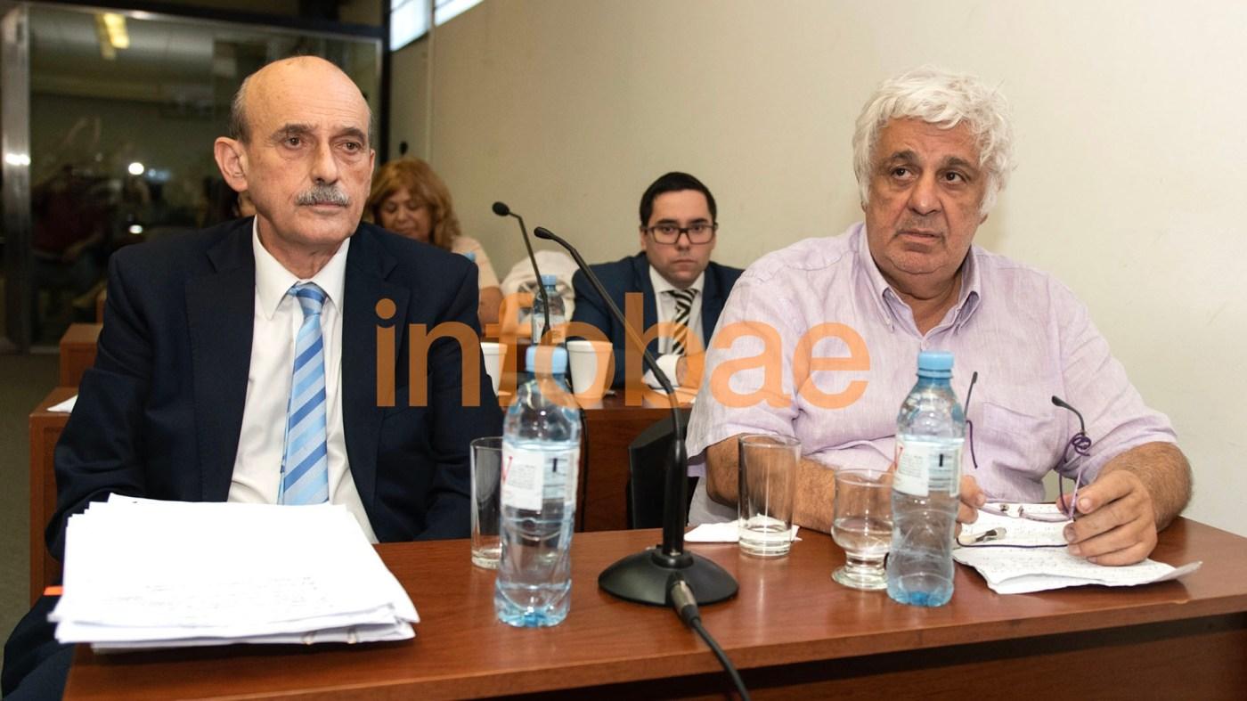 Samid y su abogado en la audiencia del juicio por asociación ilícita (Adrian Escándar)