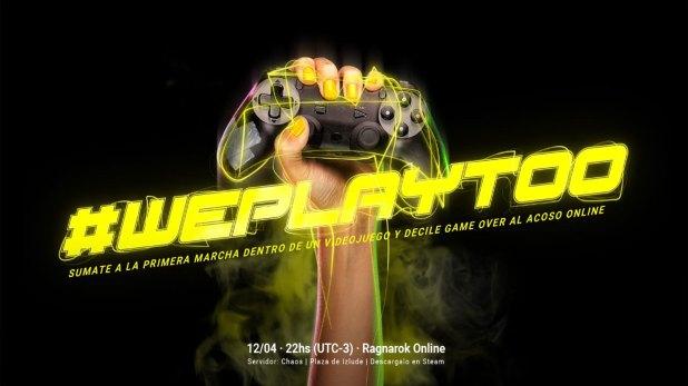 La primera marcha virtual en un videojuego: #WePlayToo