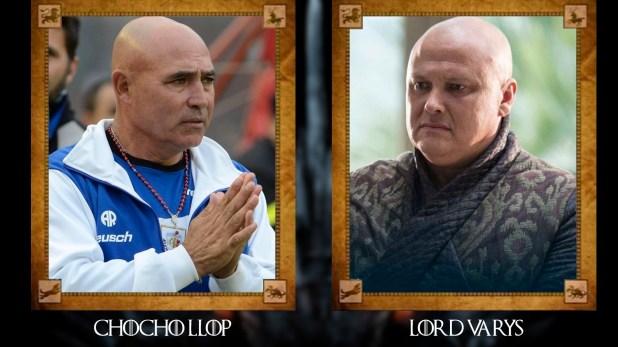 """""""Chocho"""" Llop (ex futbolista y entrenador argentino) con Lord Varys"""