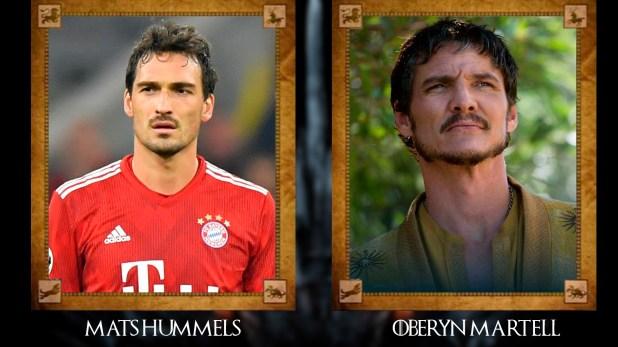 Mats Hummels (Bayern Münich) con Oberyn Martell