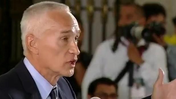 La disputa entre el periodista el mandatario comenzó el viernes pasado, cuando Ramos destacó que los homicidios van a la alza en el país (Foto: Especial)